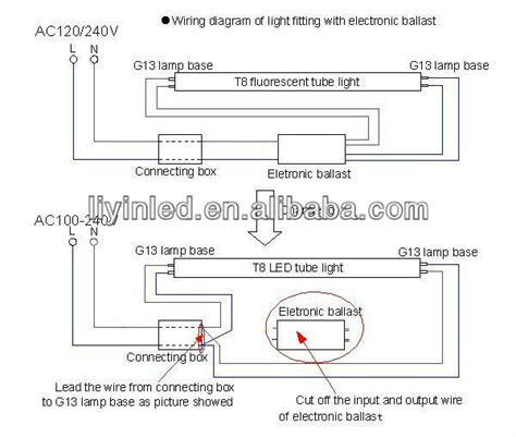 diagram led fluorescent replacement wiring diagram