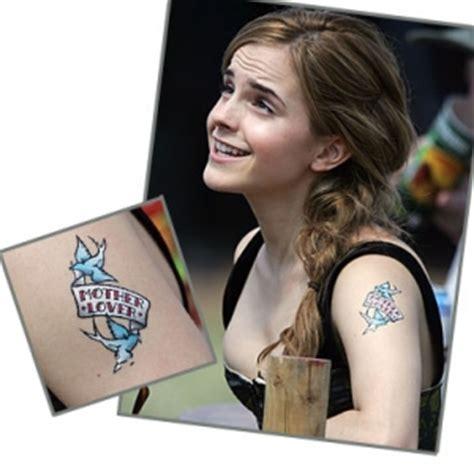 emma watson tattoo on shoulder emma watson tattoos mother lover