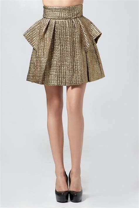 Origami Skirts - hommage gold origami skirt from philadelphia by bonded