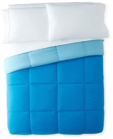 light warmth down alternative comforter aqua blue decor popsugar home