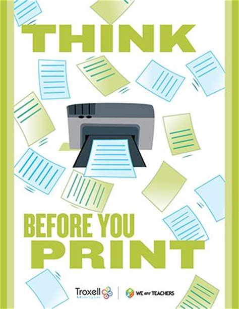 printable think poster our kids color posters and technology on pinterest