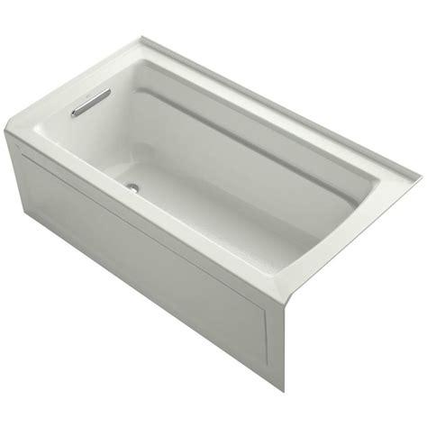 3 ft bathtub kohler archer 5 ft left drain bathtub in dune k 1122