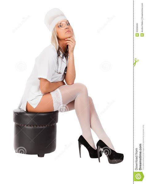 Dentist Chair by Young Female Doctor Stock Image Image Of Sensuality