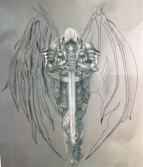 christian warrior tattoo sketch winni other inspiration