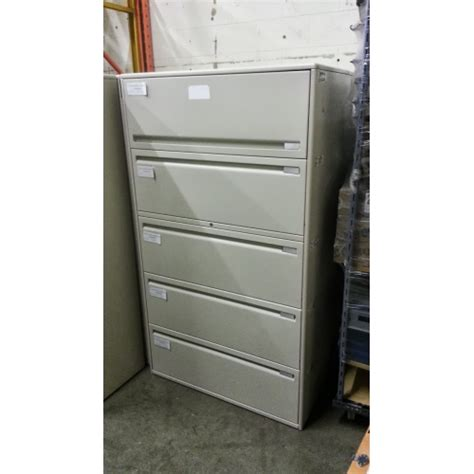Haworth Lateral File Cabinet Haworth 5 Drawer Lateral File Cabinet Beige Allsold Ca Buy Sell Used Office Furniture Calgary