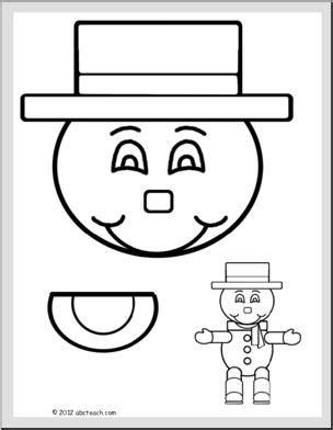 printable christmas paper bag puppets paper bag puppet snowman printable abcteach
