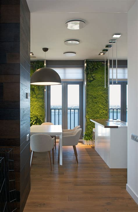 sustainable apartment design modern apartment design green walls by svoya