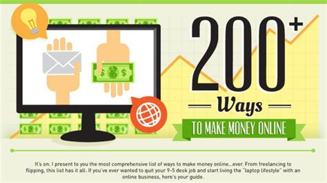 Is There A Way To Make Money Online - this infographic lists over 200 resources for making money online lifehacker australia