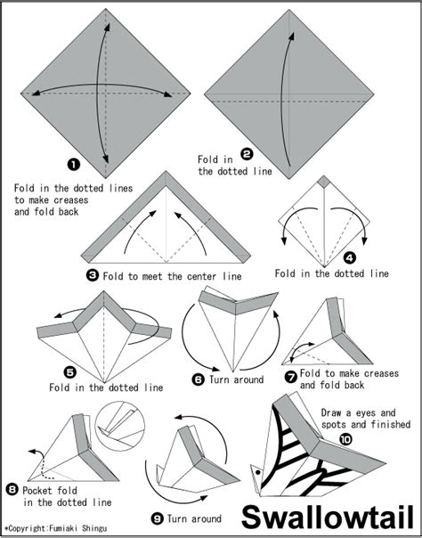 Origami Swallowtail Butterfly - swallowtail easy origami for
