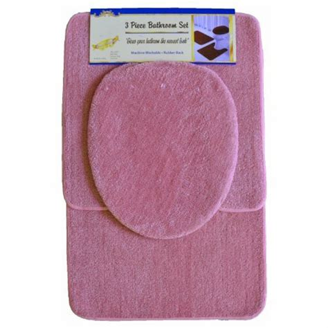 pink bathroom rug sets pink 3 bathroom set 1 bath mat rug 1 contour mat