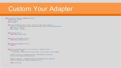 layoutinflater custom adapter listview and custom listview on android development thai