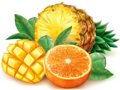Jine Pineapple Orange Mango pineapple mango orange vector vector food free