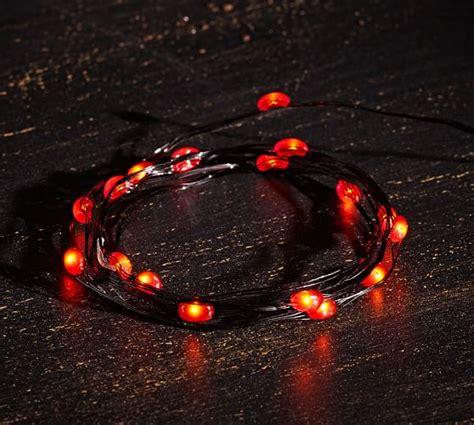 orange led string lights led string lights orange pottery barn