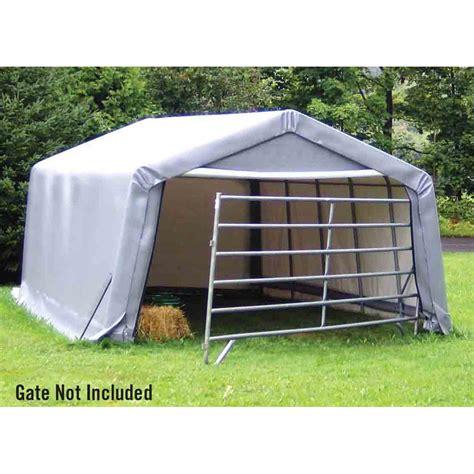Shed Logic by Shelter Logic 12 X 20 X 8 Peak Style Storage Shelter