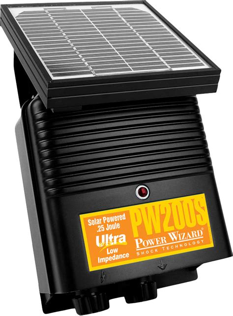 electric fence solar charger power wizard electric fence energizer solar charger pw200s