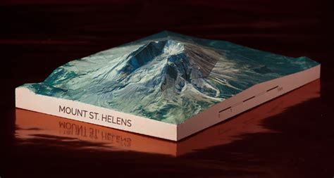 Volcano Papercraft - mount st helens papercraft mountains
