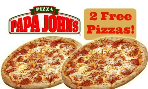 Groupon Papa John S Gift Card - groupon deal papa john s pizza voucher 2 free pizzas southern savers