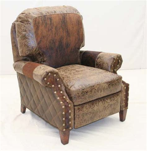 Cowhide Recliner cowhide trim western recliner hickory tannery furniture free shipping