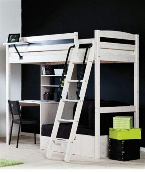 white loft bed with desk underneath white stora loft bed from ikea notice how desk is arranged it lofty ideas