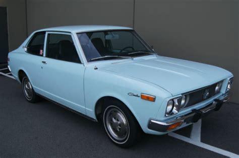 Front Corner L Toyota Corona At181 Berkualitas two year us spec coupe 1972 toyota 5 speed