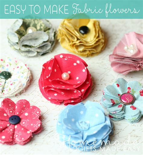 How To Make Handmade Fabric Flowers - easy to make fabric flowers diy