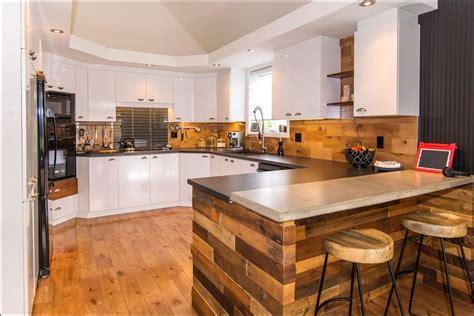 ilot bois cuisine ilot cuisine palette photos de conception de maison