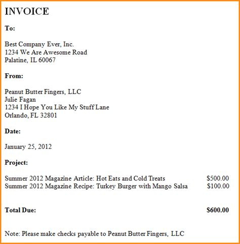how to write an invoice for freelance hardhost info