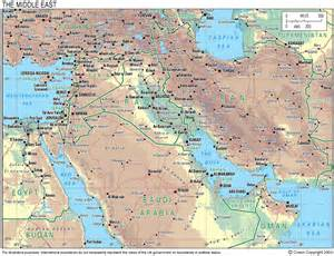 Map Of Middle East by General Maps