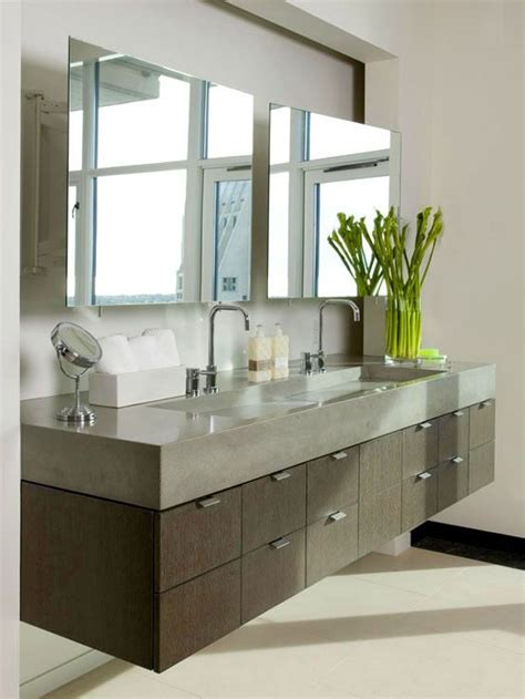 Modern Bathroom Countertops Bathroom The Modern Bathroom Vanity Floating Modern Bathroom Vanity With Poured Concrete