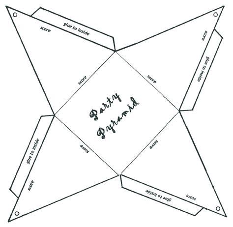 How To Make A Paper Pyramid Template - cajas de palomitas para imprimir mejor conjunto de frases
