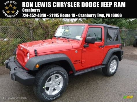 jeep red 2017 2017 firecracker red jeep wrangler sport 4x4 116076177
