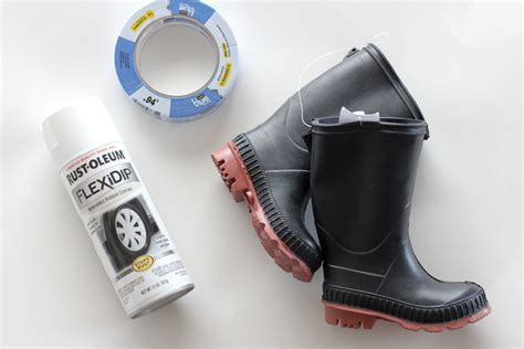 spray paint rubber boots spray painted boots