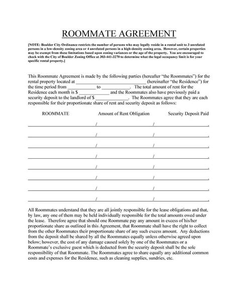 25 Best Ideas About Roommate Agreement On Pinterest College Roommate Roommate Contract And College Roommate Contract Template