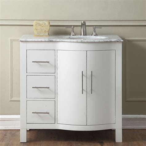 bathroom vanity brands 6290ww36r 36 single sink vanity carrara white marble top