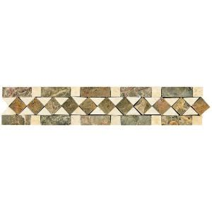 Home Depot Decorative Tile | daltile stone decorative accents diamond dream 2 3 8 in x