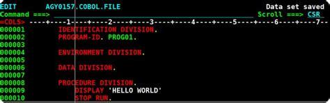 Section In Cobol by Cobol Tutorials Mainframe Menu