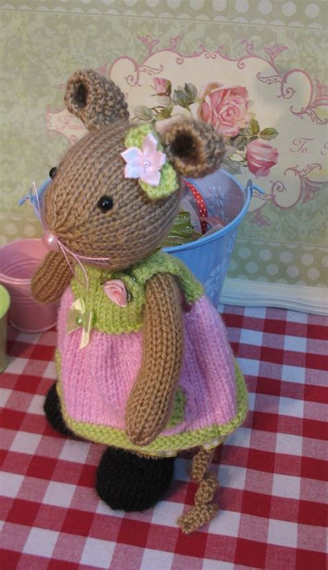 minnie mouse doll knitting pattern knitted mouse knitting toys ballerina