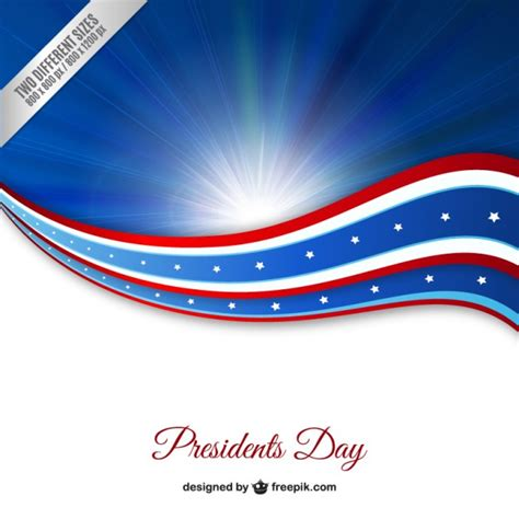 election background presidents day blue background vector free