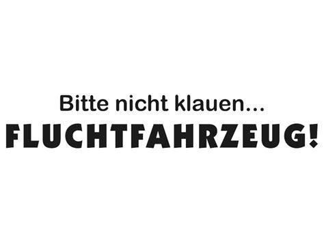 Pkw Aufkleber Spr Che by Autofolie Aufkleber Spr 252 Che Fluchtfahrzeug Autoaufkleber