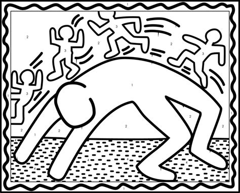 keith haring coloring pages az coloring pages