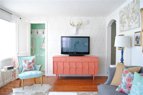 living room reveal coral and mint living room reveal clutter
