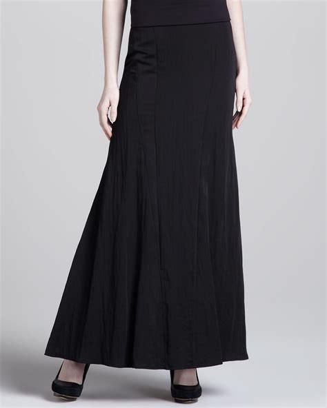 donna karan gored a line maxi skirt