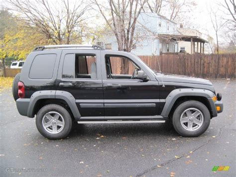 black jeep liberty 2005 black clearcoat 2005 jeep liberty renegade 4x4 exterior