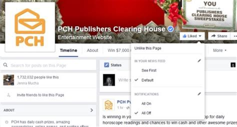 Facebook Pch - have you turned on your notifications for the pch fan page on facebook pch blog