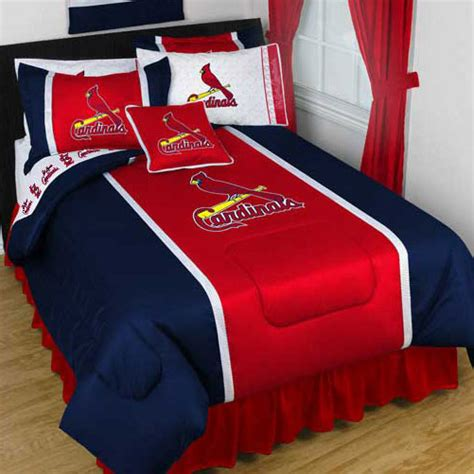 st louis cardinals bedroom one full queen size comforter and two standard pillowcases