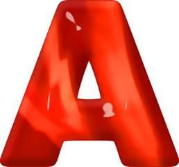 ð ð ð ð Presentation Alphabets Glass Letter A