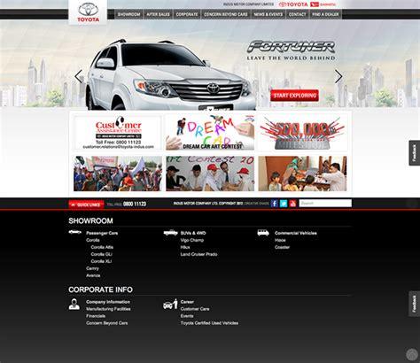 toyota corporate website toyota indus motor company website on behance