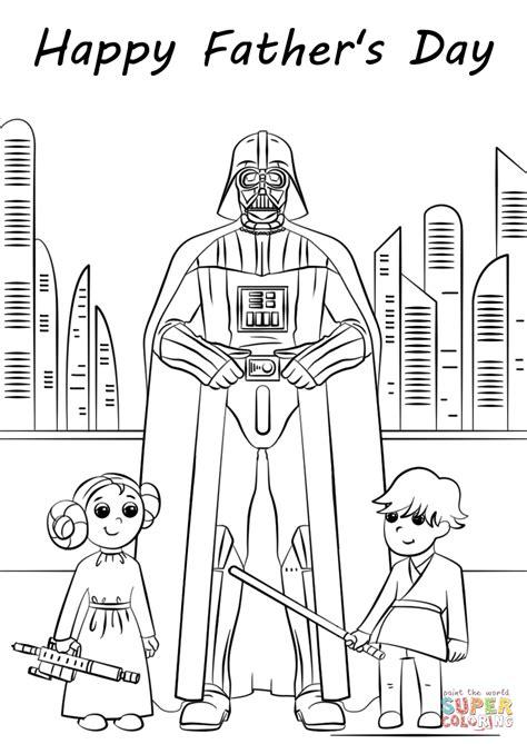 star wars father s day coloring page dibujo de el d 237 a de padre de star wars para colorear
