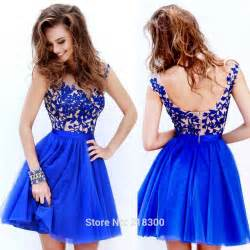 Sears Furniture Kitchen Tables aliexpress com buy lace royal blue short prom dress cap