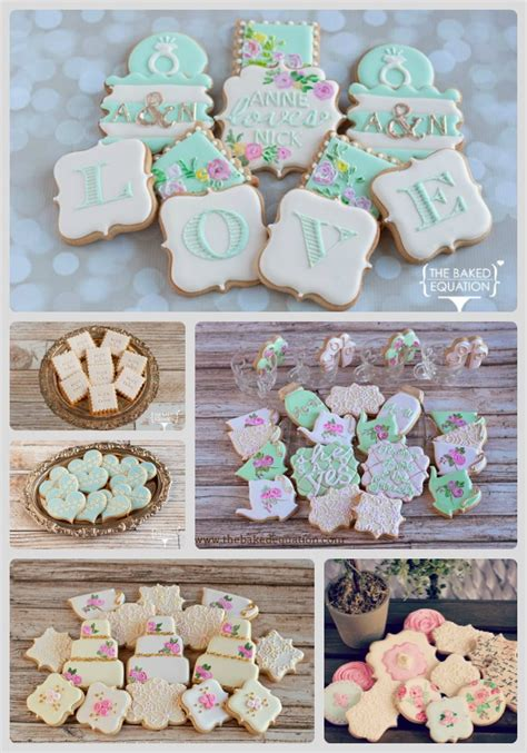 wedding cookie favors the baked equation